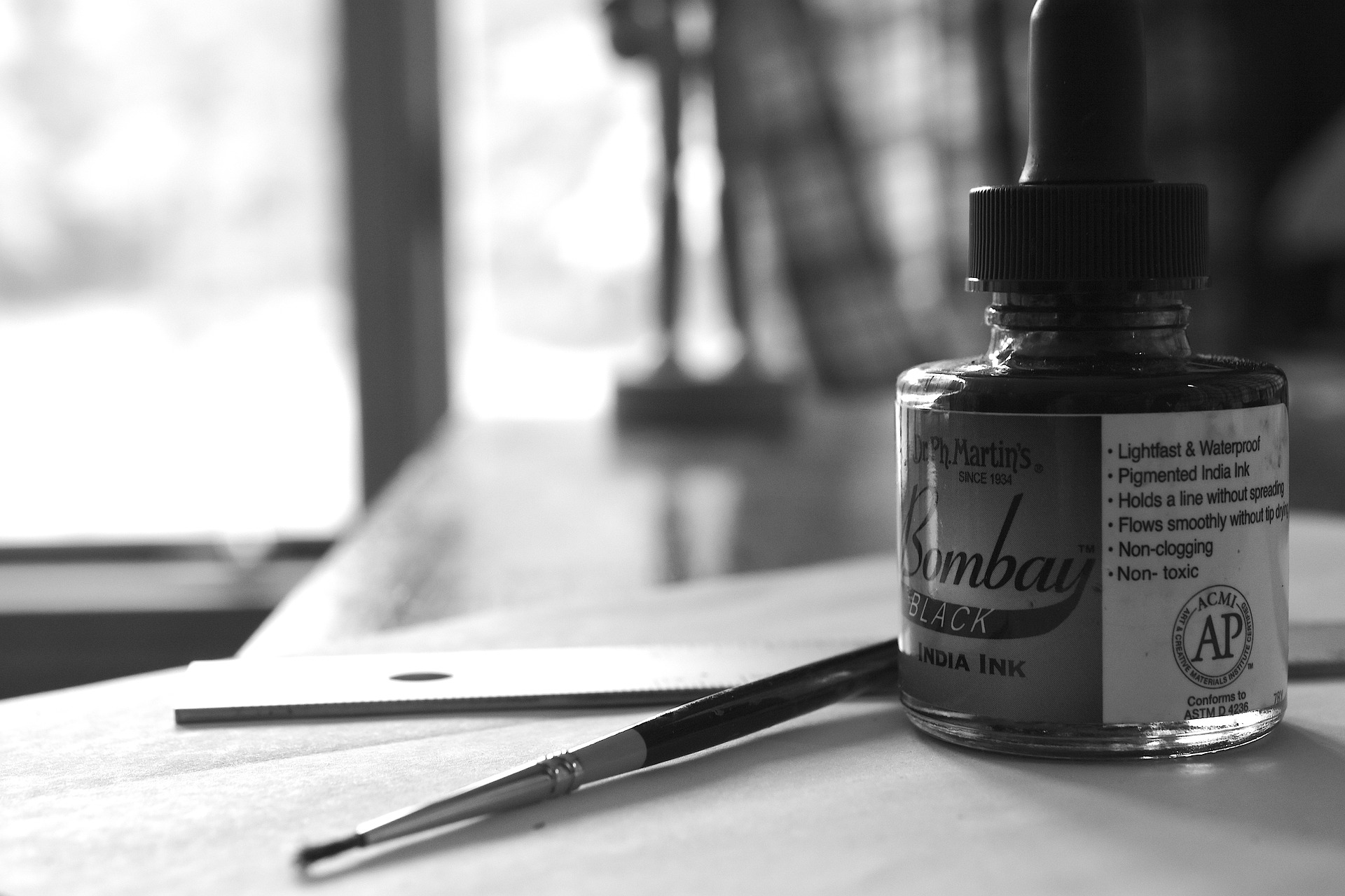 Drawing with Black Ink: The Necessary Art Tools and Materials, Basic Techniques
