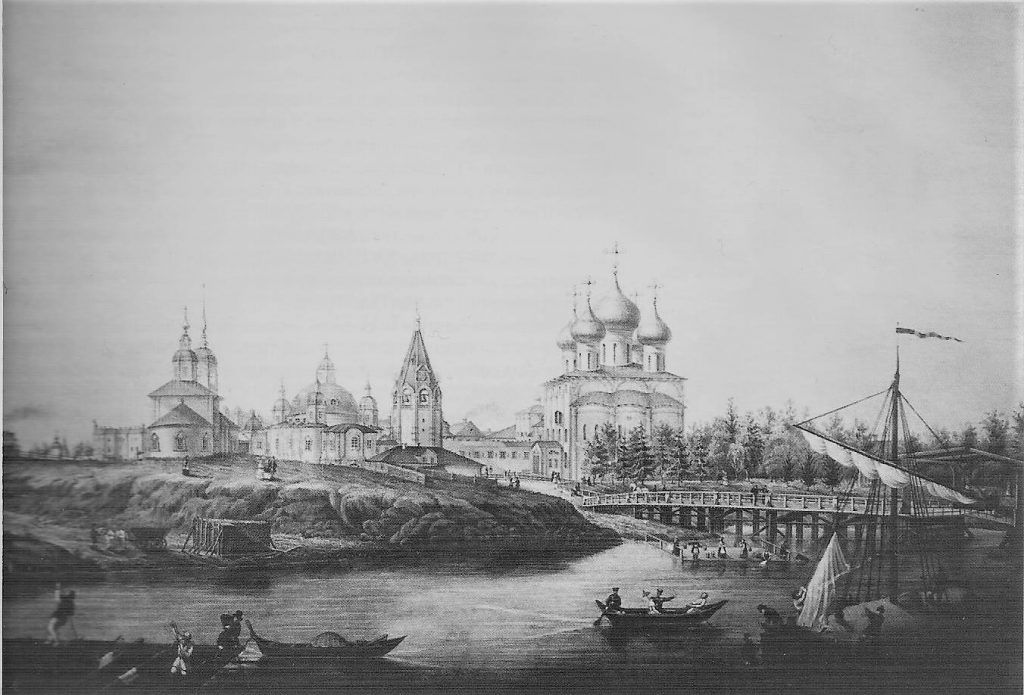 An engraving by A.Ushakov, 1853,