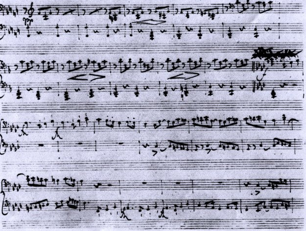 autograph of the piece
