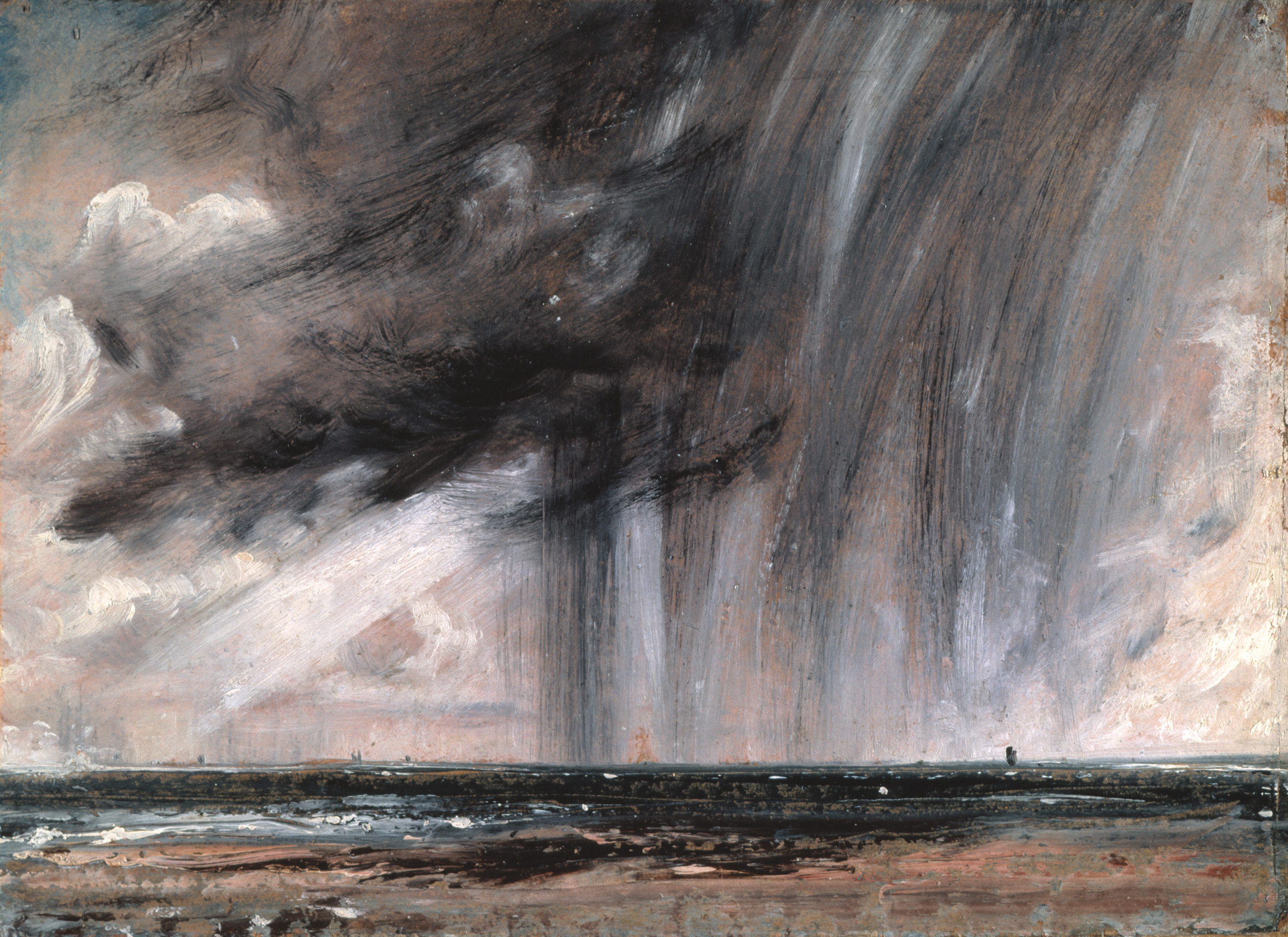 """Not Realistic, but Truthful: """"Seascape Study with Rain Cloud"""" by John Constable"""