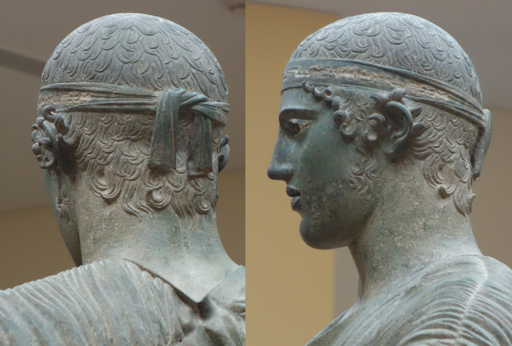 The head of the Charioteer