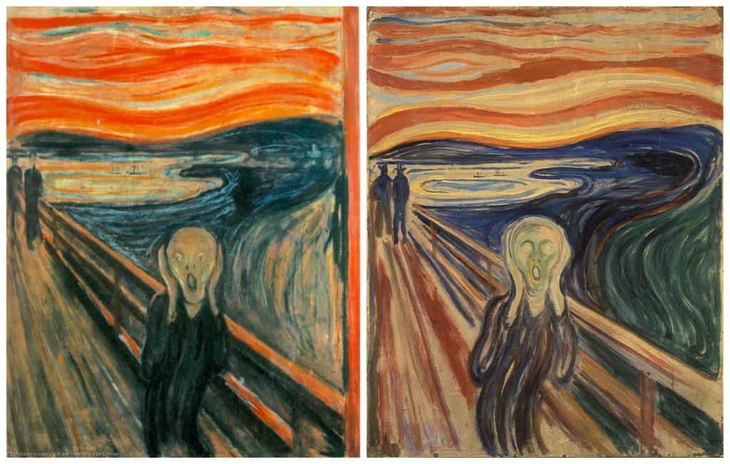 """""""The Scream"""": painted variants"""