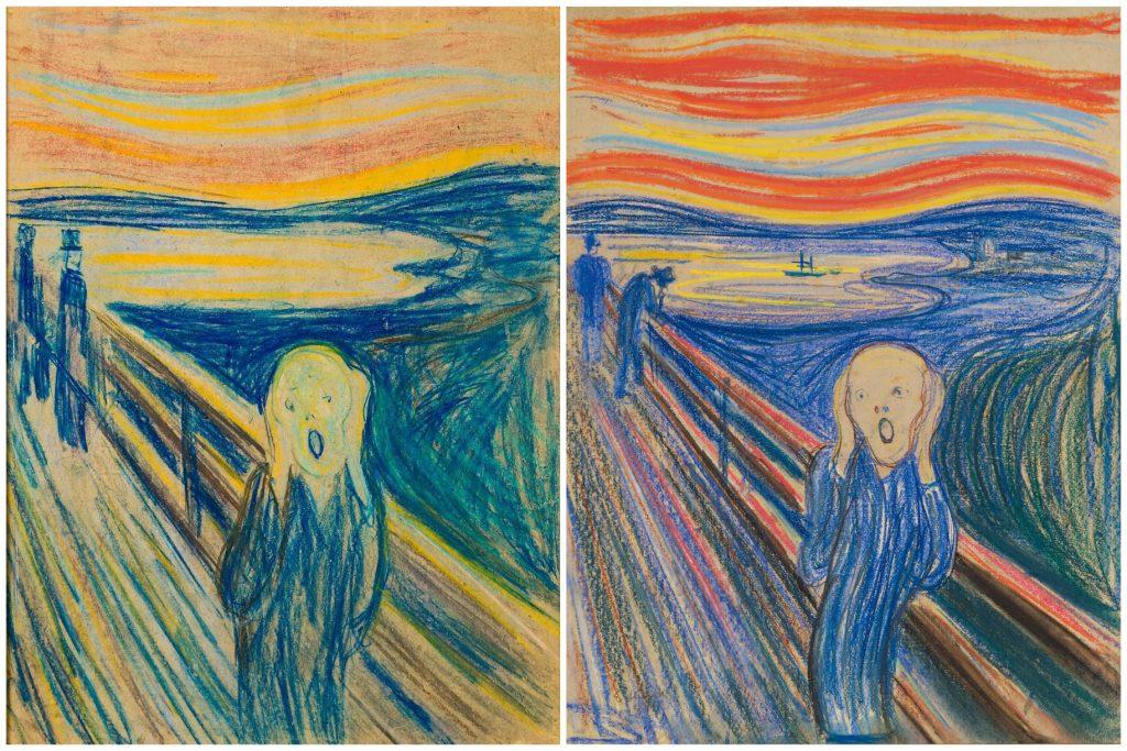 The Scream in pastel