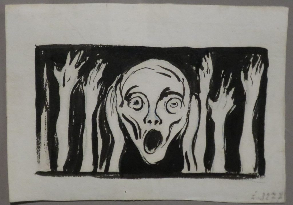 Munch, an undated ink drawing